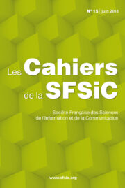 Couverture Cahiers SFSIC 15