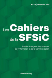 Couverture Cahiers SFSIC 16