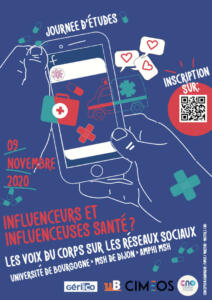 Affiche JE influenceurs santé 2020