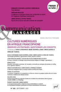 Couverture Communication et langages 205